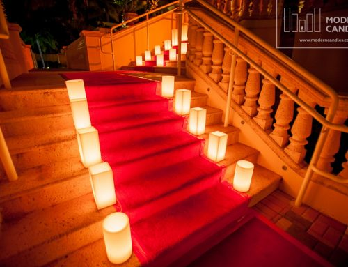 Large Candles for Acqualina Resort & Spa 50th celebration