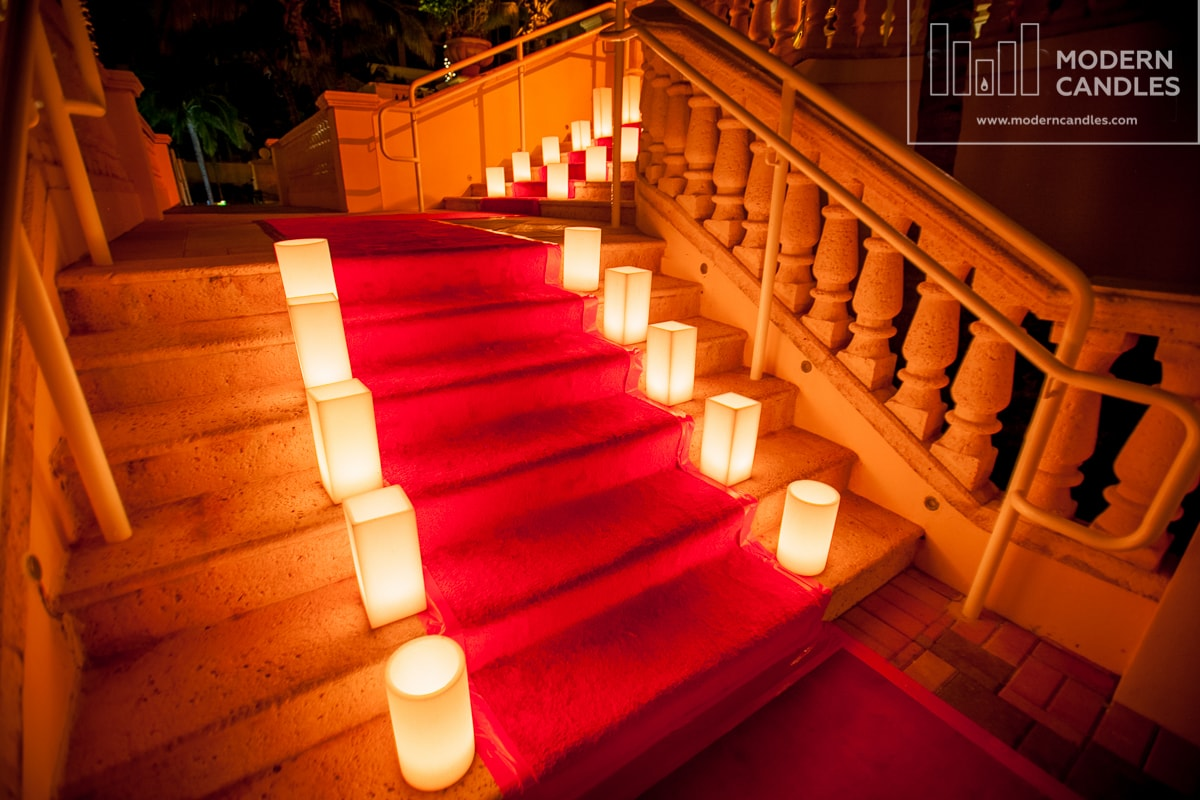 Candles for red carpet event Miami