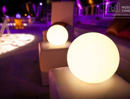 LED Glow Spheres for a corporate party at W Fort Lauderdale