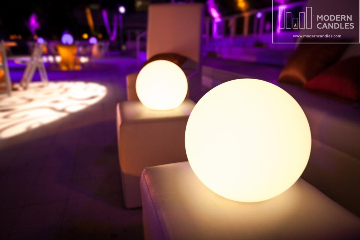 Glow spheres event rental miami