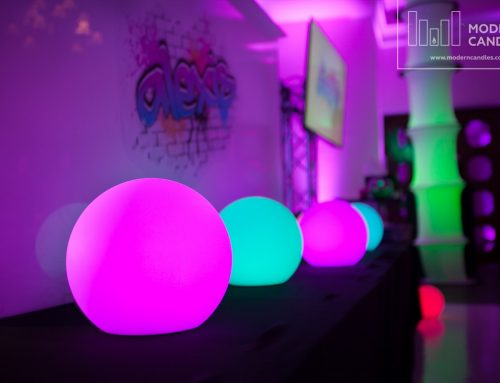 LED Glow Spheres for Sweet Sixteen Party at The Bath Club