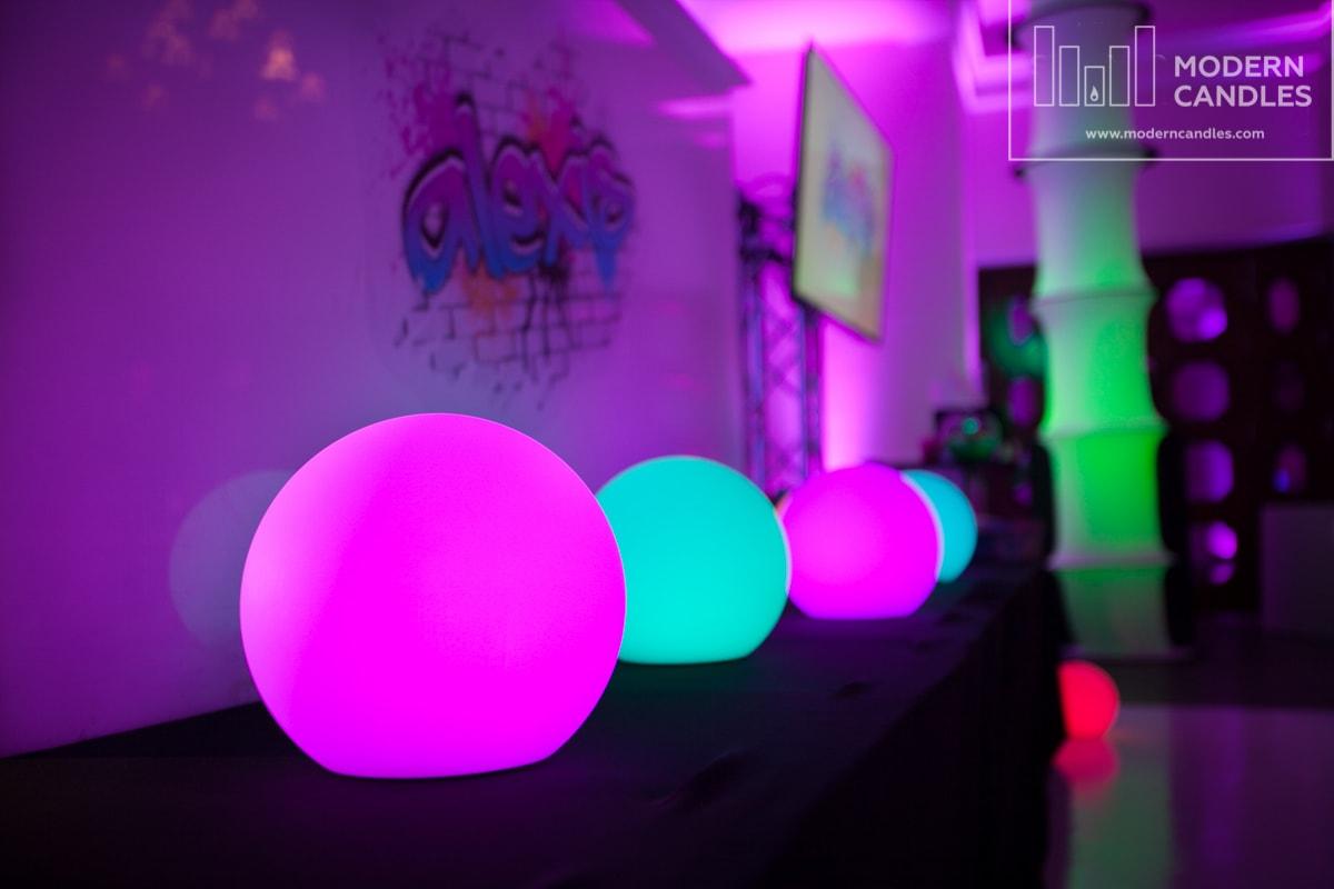 Rent LED glow spheres balls orbs