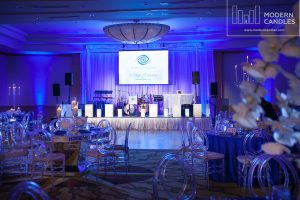 Rent large candles for a corporate party