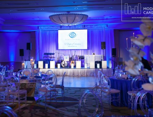 Large Rectangular Candles for The Marc Jaiden Gala at InterContinental, Doral
