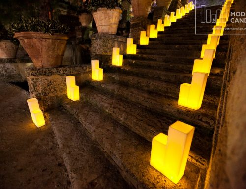Large Rectangular Candles for a Gala at Vizcaya Museum & Gardens